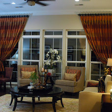 Traditional Living Room by Valerie Davis