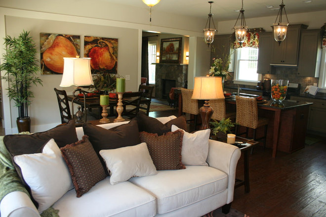 Contemporary Living Room by Kathy Campbell