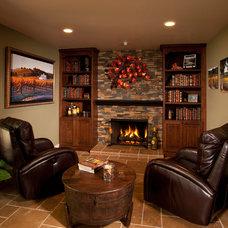 Mediterranean Living Room by Timeline Design