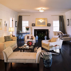 Traditional Living Room by KMNelson Design, LLC