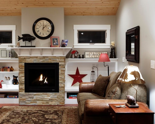 Stacked Stone Fireplace Photos - Stacked Stone Fireplace Design Ideas & Remodel Pictures Houzz
