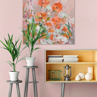 """""""Peachy Petals"""" Painting Print on Wrapped Canvas"""