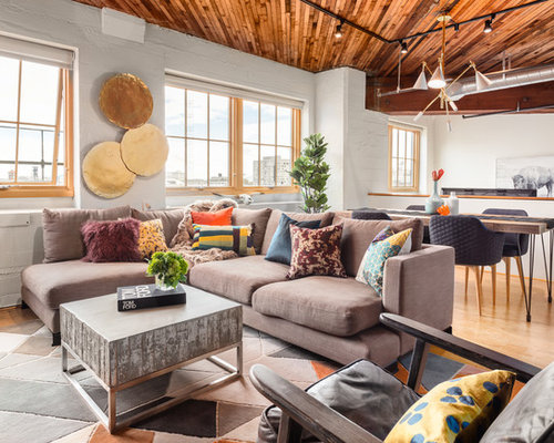 top 30 industrial family room ideas & remodeling pictures | houzz