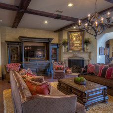 Mediterranean Living Room by Anderson Fine Homes