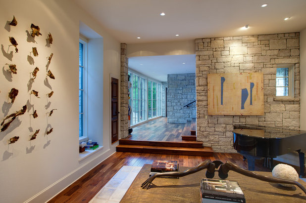 Eclectic Living Room by Hugh Jefferson Randolph Architects