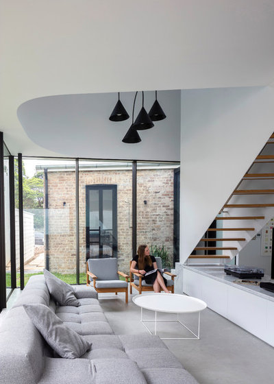 Contemporary Living Room by Carter Williamson Architects