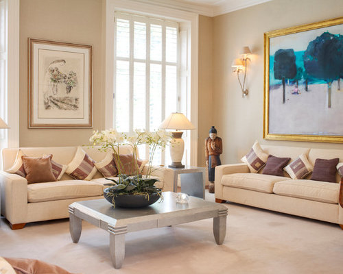 Beige Living Room Design Ideas Renovations Photos With