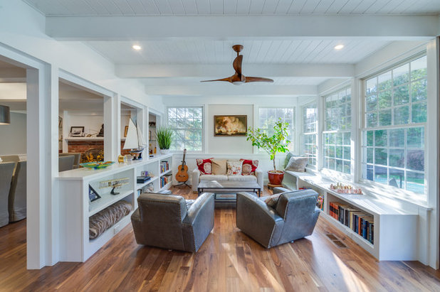 How to choose a ceiling fan for comfort and style contemporary living room by raphael architects raphael architects how to choose a ceiling fan mozeypictures Images