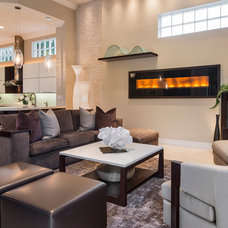 Contemporary Living Room by Barbara Rooch Interior Environments, Inc.