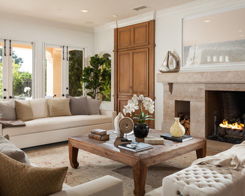 Inspiration for a mediterranean living room remodel in Orange County
