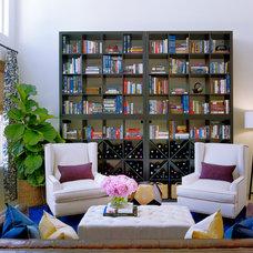 Eclectic Living Room by Daniella Villamil Interiors