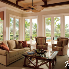 Traditional Living Room by Pella Windows and Doors