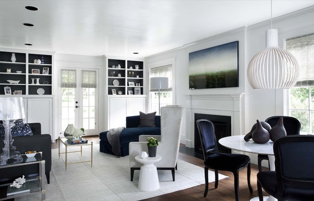 Traditional Living Room by Tim Cuppett Architects