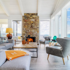 Beach Style Living Room by Johnson + McLeod Design Consultants