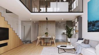 Penhouse Apartment interiors