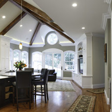 Traditional Living Room by Allwood Construction Inc