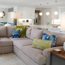 Transitional Living Room by Eric Aust Architect