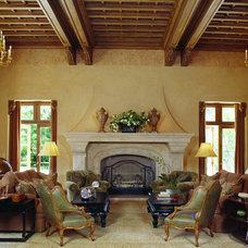 Mediterranean Living Room by Lencioni Construction