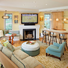 Modern Living Room by JMS Architecture LLC