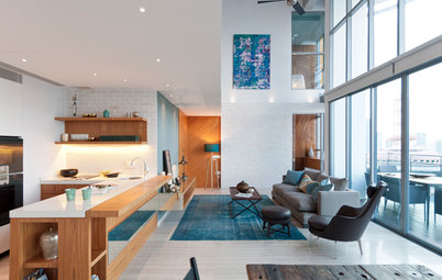 Room Tour: Dusky Blues in an Open-Plan Living Room