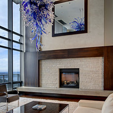 Modern Living Room by John G Wilbanks Photography, Inc.