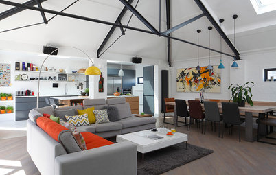 Houzz Tour: An Open-plan Layout Updates a Converted Schoolhouse