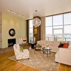 Contemporary Living Room by Angela Todd Designs