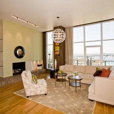 Contemporary Living Room by Angela Todd Designs, Portland, OR