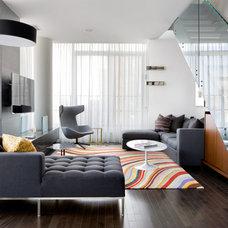 Contemporary Living Room by Lisa Stevens & Company, Inc.