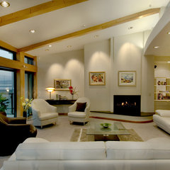 modern living room by Frederick Gibson + Associates Architecture