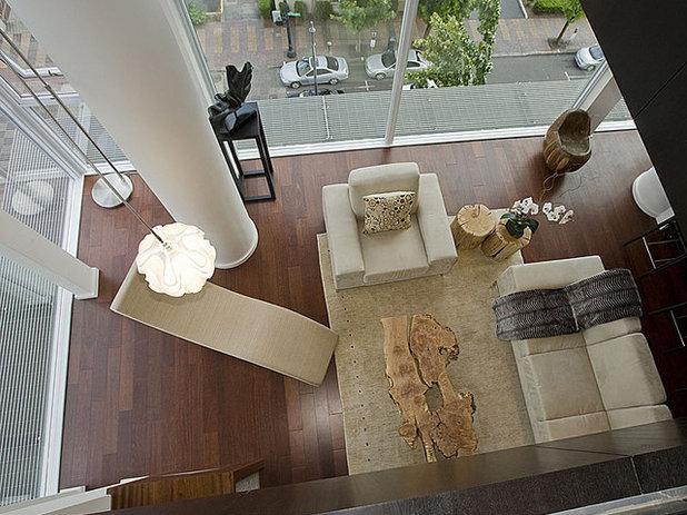 Contemporain Salon by Pangaea Interior Design, Portland, OR