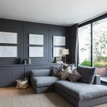 Dark Grey painted living rooms