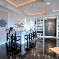 Transitional Living Room by DELUXE Design & Construction