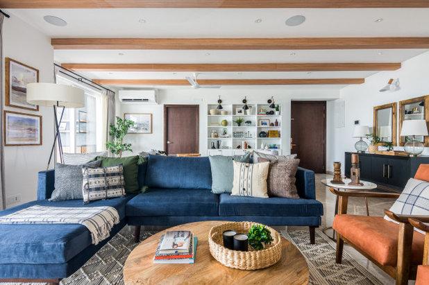 Contemporary Living Room by Sunita Yogesh Studio