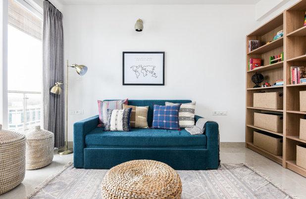 Contemporary Family Room by Sunita Yogesh Studio