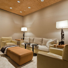 modern media room by MORE design+build