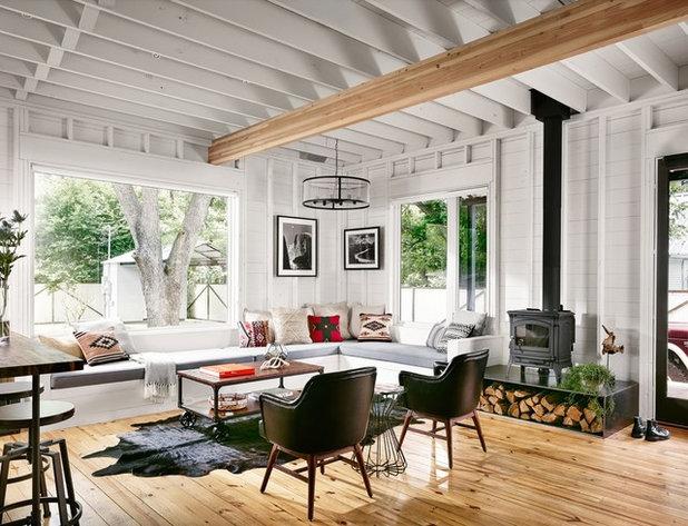 Farmhouse Living Room by Risinger Homes