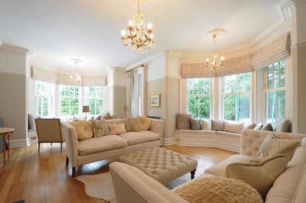 Traditional Living Room by Noushka Design Ltd