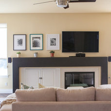 Transitional Living Room by Simply Stunning Spaces by Darcy K.