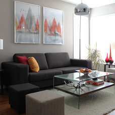 transitional living room by Leclair Decor