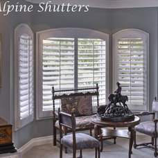 Traditional Living Room by Alpine Shutters and Window Fashions