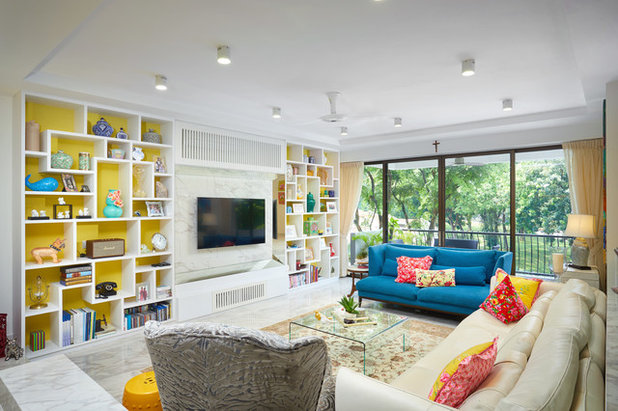 Eclectic Living Room by D'Perception Ritz Pte Ltd
