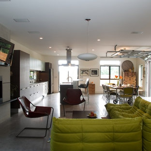 Living room - modern living room idea in Seattle
