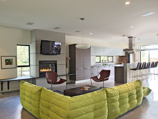 modern living room by PLACE architect ltd.