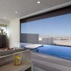 Warm And Modern Fireplace Modern Living Room San