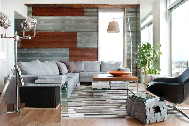 industrial living room by Groundswell Design Group, LLC