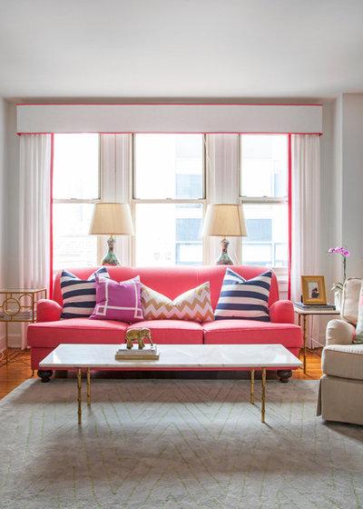 Soggiorno con divano rosso - Soggiorno con divano ...