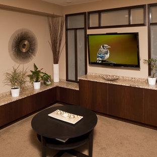 Living room - contemporary living room idea in Philadelphia