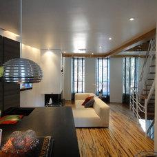 Modern Living Room by LJL FlC Construction ,LLC