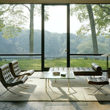 Modern Living Room Philip Johnson's Glass House by Eirik Johnson